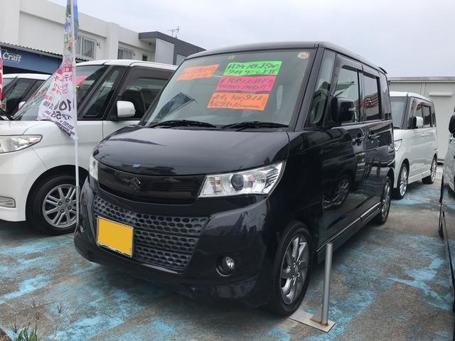 沖縄の中古車 スズキ パレットSW 車両価格 49万円 リ済込 2012(平成24)年 10.1万km ブラック