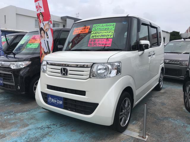 沖縄の中古車 ホンダ N-BOX 車両価格 59万円 リ済込 2013(平成25)年 11.5万km パールホワイト