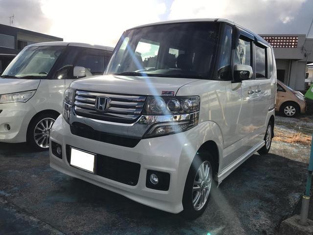 沖縄の中古車 ホンダ N-BOXカスタム 車両価格 69万円 リ済込 2012(平成24)年 11.8万km パール