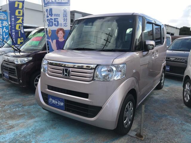 沖縄の中古車 ホンダ N-BOX 車両価格 56万円 リ済込 2012(平成24)年 10.1万km ピンク