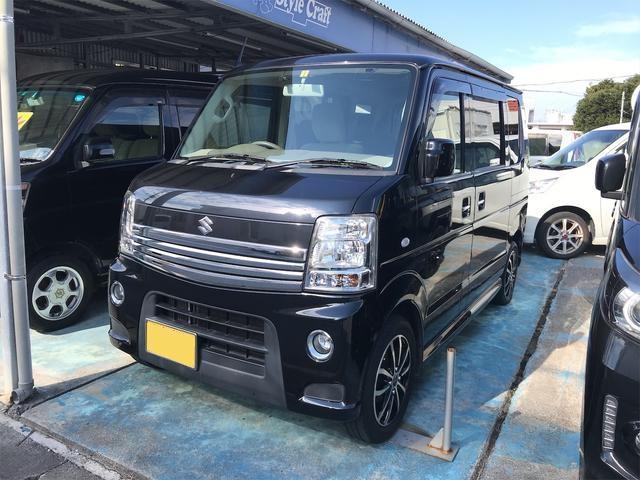 沖縄の中古車 スズキ エブリイワゴン 車両価格 66万円 リ済込 2012(平成24)年 12.8万km ブラック