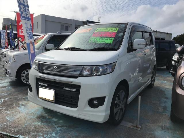沖縄の中古車 スズキ ワゴンRスティングレー 車両価格 32万円 リ済込 2011(平成23)年 13.6万km パールホワイト