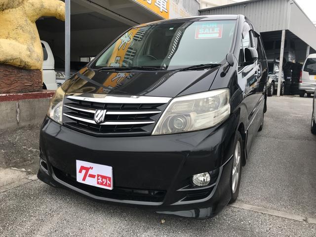 沖縄の中古車 トヨタ アルファードV 車両価格 ASK リ済込 2006(平成18)年 15.5万km ブラックマイカ