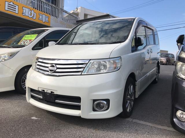 沖縄の中古車 日産 セレナ 車両価格 49万円 リ済込 平成19年 13.8万km パールホワイト