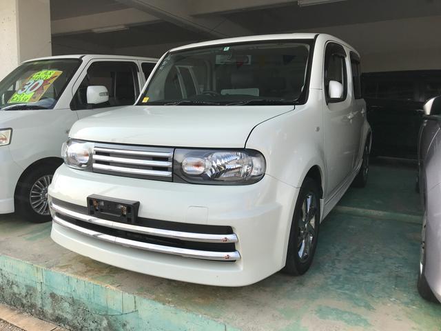 沖縄の中古車 日産 キューブ 車両価格 49万円 リ済込 2009(平成21)年 12.0万km パール