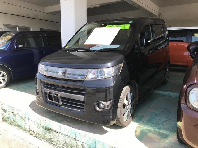 沖縄県の中古車ならワゴンRスティングレー X プッシュスタート スマートキー ベンチシート 電動格納ミラー ナビ CD