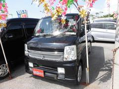 沖縄の中古車 スズキ エブリイワゴン 車両価格 64万円 リ済込 平成21年 7.7万K ブラック