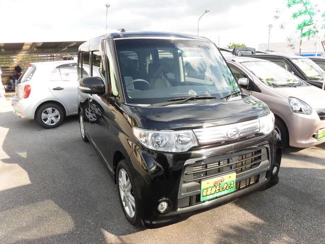 沖縄の中古車 ダイハツ タント 車両価格 64万円 リ済込 平成24年 9.3万km ブラック
