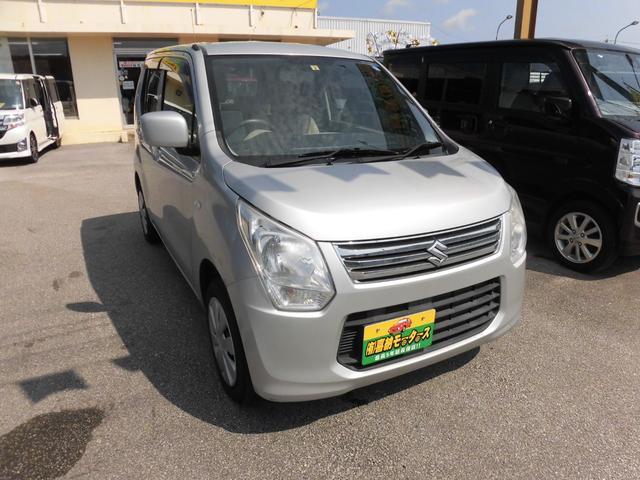 沖縄の中古車 スズキ ワゴンR 車両価格 50万円 リ済込 平成25年 7.7万km シルバー