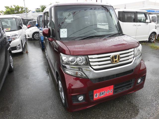 沖縄の中古車 ホンダ N-BOXカスタム 車両価格 84万円 リ済込 2012(平成24)年 8.8万km レッドM