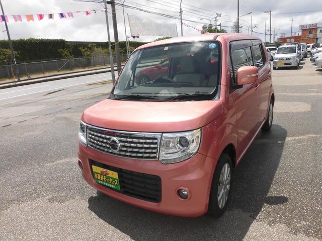 沖縄の中古車 日産 モコ 車両価格 63万円 リ済込 2014(平成26)年 6.2万km ピンクM