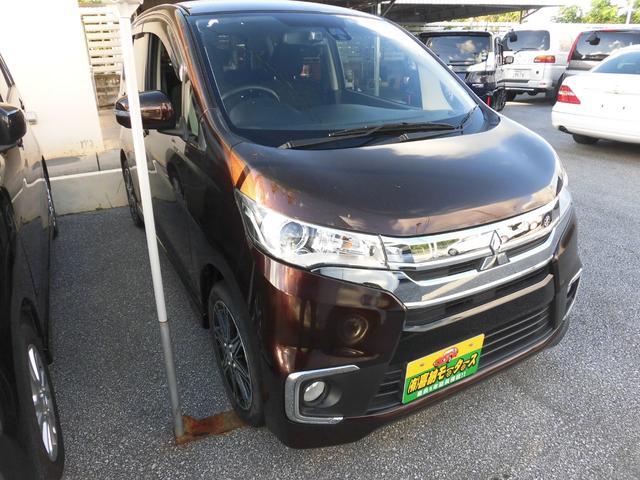 沖縄県の中古車ならeKカスタム Tセーフティパッケージ ターボ