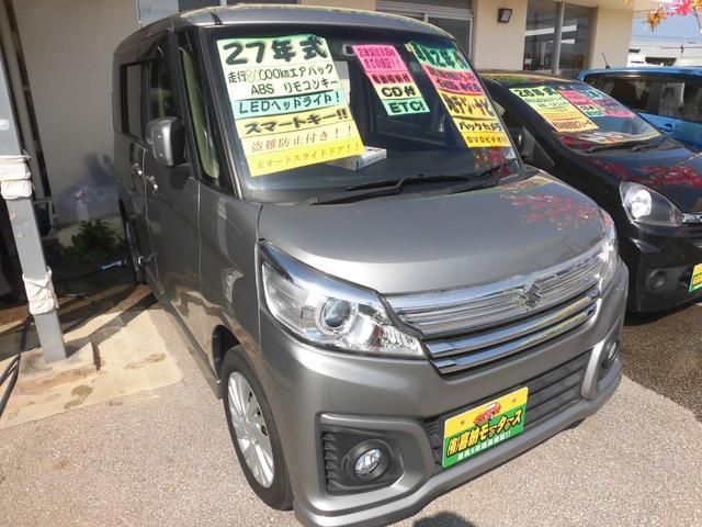 沖縄の中古車 スズキ スペーシアカスタム 車両価格 84万円 リ済込 2015(平成27)年 8.0万km シルバーM