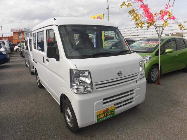 沖縄の中古車 日産 NV100クリッパーバン 車両価格 74万円 リ済込 2017(平成29)年 1.6万km ホワイト