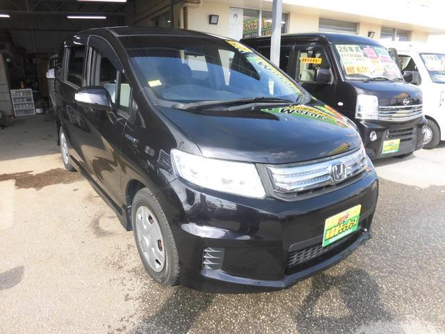 沖縄の中古車 ホンダ フリードスパイクハイブリッド 車両価格 88万円 リ済込 2012(平成24)年 7.9万km ブラックM