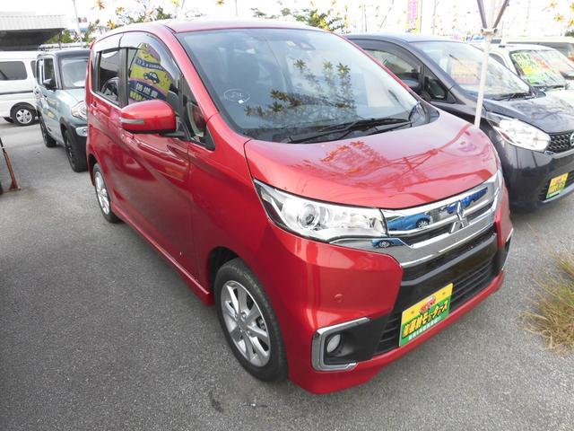 沖縄の中古車 三菱 eKカスタム 車両価格 93万円 リ済込 2019(令和1)年 0.2万km レッドM