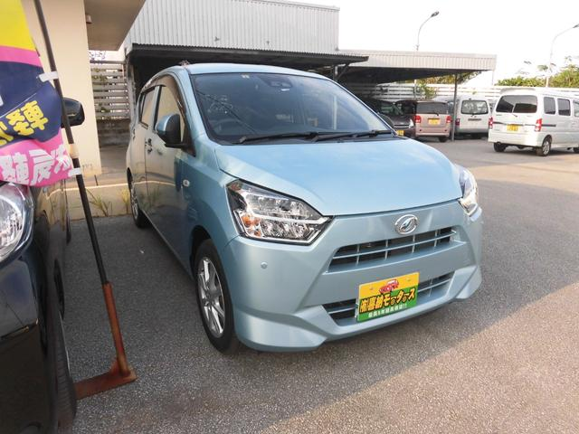 沖縄の中古車 ダイハツ ミライース 車両価格 84万円 リ済込 2019(令和1)年 0.6万km ブルーM