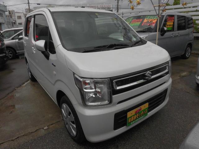 沖縄の中古車 スズキ ワゴンR 車両価格 93万円 リ済込 2019(令和1)年 1.0万km パール