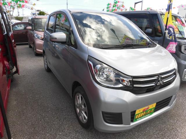 沖縄の中古車 三菱 eKワゴン 車両価格 64万円 リ済込 2018(平成30)年 2.1万km シルバーM