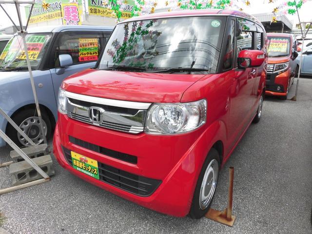 沖縄の中古車 ホンダ N-BOXスラッシュ 車両価格 74万円 リ済込 2015(平成27)年 7.9万km レッド