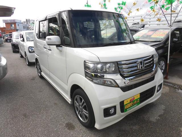 沖縄の中古車 ホンダ N-BOX 車両価格 74万円 リ済込 2014(平成26)年 9.2万km パール