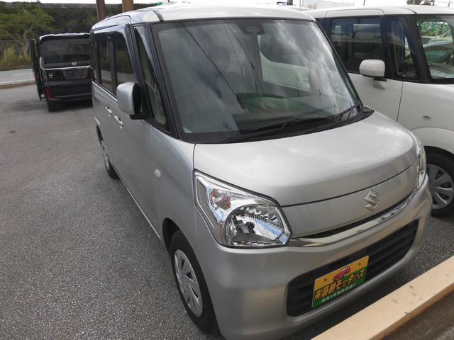 沖縄の中古車 スズキ スペーシア 車両価格 84万円 リ済込 2015(平成27)年 7.1万km シルバーM