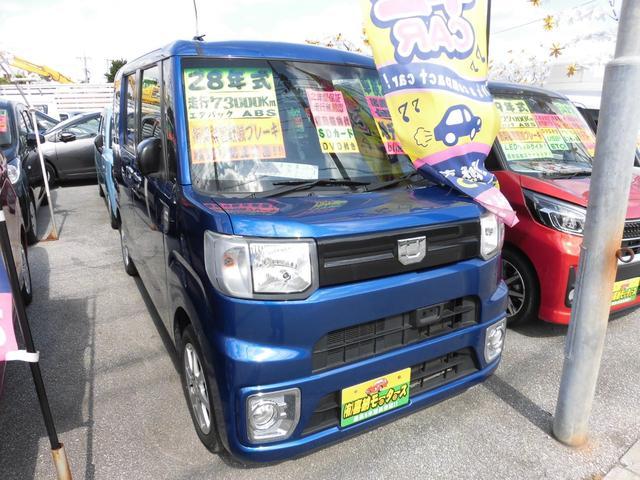 沖縄の中古車 ダイハツ ウェイク 車両価格 93万円 リ済込 2016(平成28)年 7.3万km ブルーM