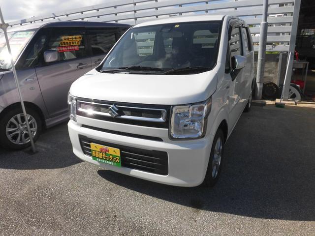 沖縄の中古車 スズキ ワゴンR 車両価格 74万円 リ済込 2018(平成30)年 3.4万km パール