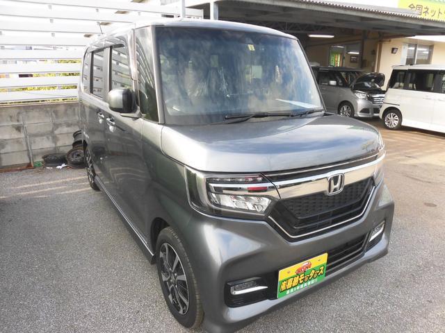 沖縄県の中古車ならN-BOXカスタム G・Lホンダセンシング 衝突軽減ブレーキ アイドリングストップ搭載