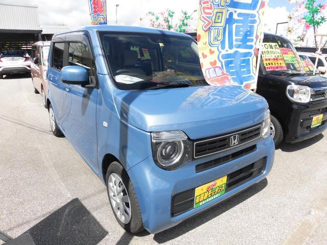 沖縄の中古車 ホンダ N-WGN 車両価格 113万円 リ済込 2020(令和2)年 1.4万km ブルー