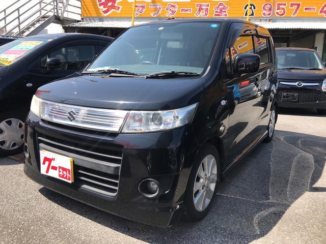 沖縄の中古車 スズキ ワゴンRスティングレー 車両価格 33万円 リ済込 2009(平成21)年 9.6万km ブラック