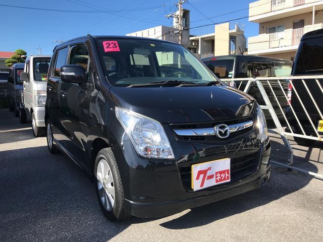 沖縄の中古車 マツダ AZワゴン 車両価格 36万円 リ済込 2011(平成23)年 11.3万km ブラック