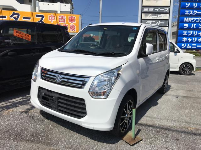 沖縄の中古車 スズキ ワゴンR 車両価格 40万円 リ済込 2014(平成26)年 10.5万km ホワイト
