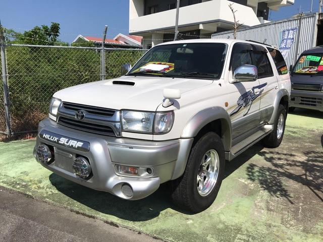 沖縄の中古車 トヨタ ハイラックスサーフ 車両価格 88万円 リ済込 2001(平成13)年 18.2万km ホワイトII