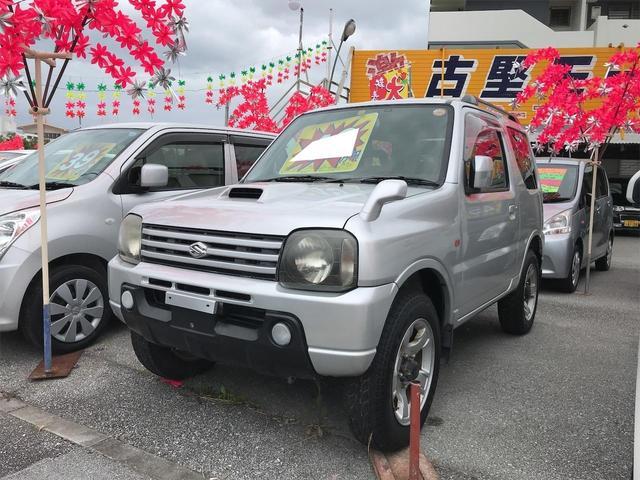 沖縄の中古車 スズキ ジムニー 車両価格 43万円 リ済込 2002(平成14)年 8.9万km シルバー