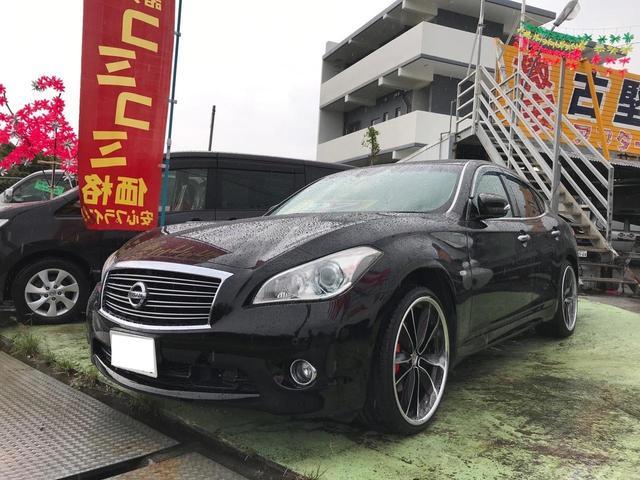 沖縄の中古車 日産 フーガ 車両価格 69万円 リ済込 2011(平成23)年 13.0万km ブラック