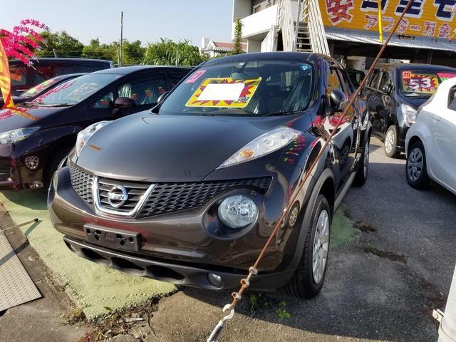沖縄の中古車 日産 ジューク 車両価格 69万円 リ済込 2011(平成23)年 5.6万km ブラウン