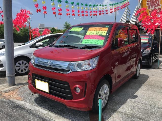 沖縄の中古車 スズキ ワゴンRスティングレー 車両価格 73万円 リ済込 2016(平成28)年 8.4万km レッド