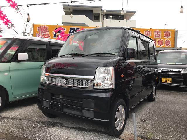 沖縄の中古車 スズキ エブリイワゴン 車両価格 57万円 リ済込 2009(平成21)年 10.8万km ブラック