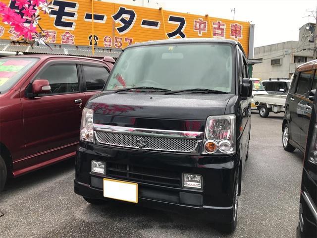 沖縄の中古車 スズキ エブリイワゴン 車両価格 59万円 リ済込 2009(平成21)年 10.2万km ブラック
