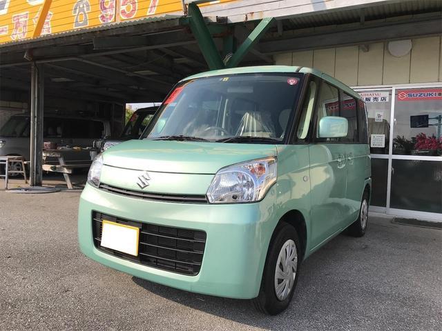 沖縄の中古車 スズキ スペーシア 車両価格 52万円 リ済込 2013(平成25)年 8.8万km グリーン