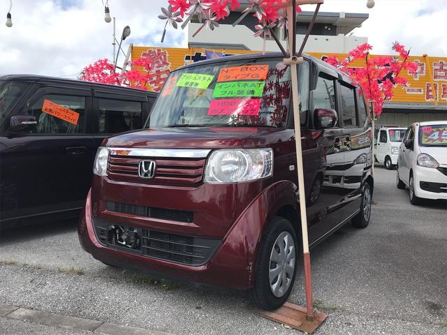沖縄の中古車 ホンダ N-BOX 車両価格 59万円 リ済込 2014(平成26)年 9.3万km ワイン