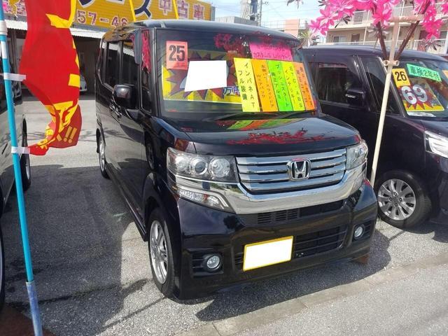 沖縄の中古車 ホンダ N-BOXカスタム 車両価格 76万円 リ済込 2013(平成25)年 8.7万km パープル