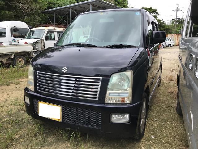 沖縄の中古車 スズキ ワゴンR 車両価格 18万円 リ済込 2004(平成16)年 16.4万km ブルーイッシュブラックパール3