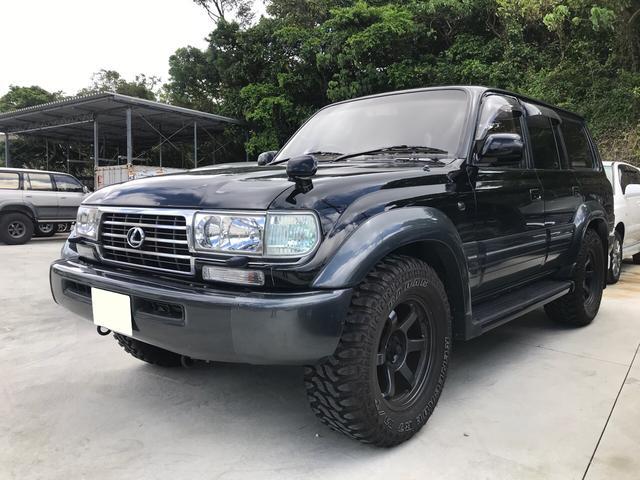 沖縄の中古車 トヨタ ランドクルーザー80 車両価格 280万円 リ済込 1996(平成8)年 19.6万km ブラックII
