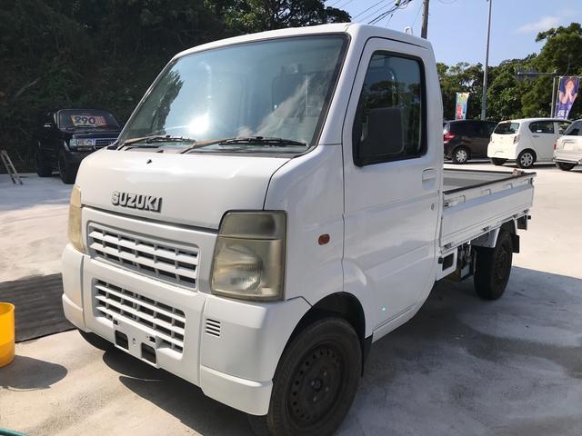 沖縄の中古車 スズキ キャリイトラック 車両価格 39万円 リ済込 2004(平成16)年 14.9万km ホワイト