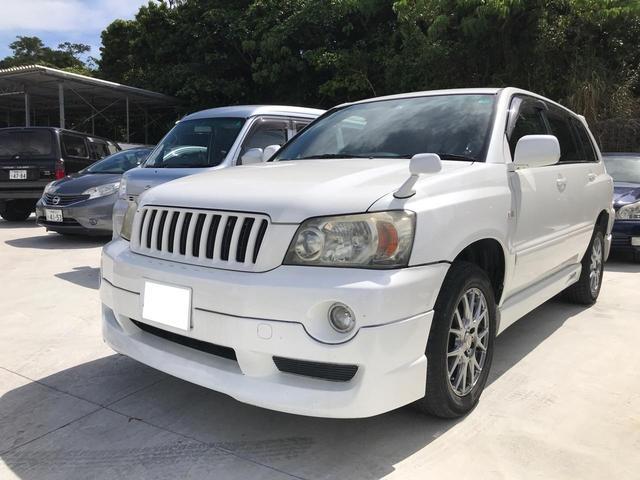沖縄県沖縄市の中古車ならクルーガーL 3.0S FOUR 純正フルエアロ 社外アルミ 4WD 純正オーディオ