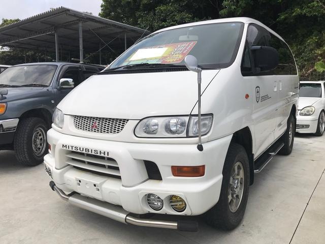 三菱 デリカスペースギア シャモニー キーレス 純正レザーシート 4WD ガソリン