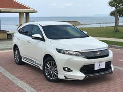沖縄の中古車 トヨタ ハリアー 車両価格 338万円 リ済込 平成28年 0.9万K ホワイトM