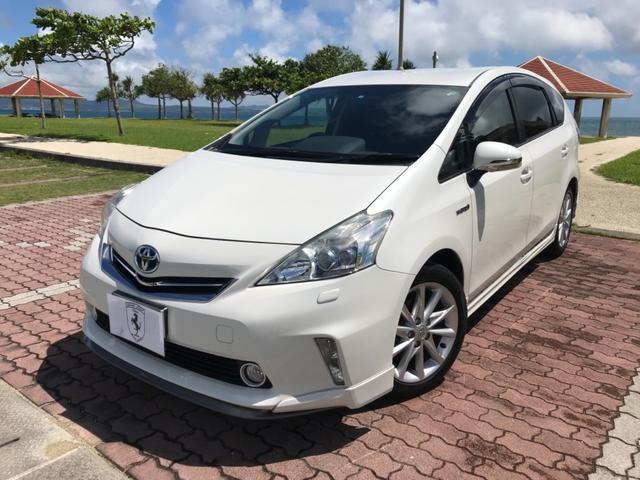 沖縄の中古車 トヨタ プリウスアルファ 車両価格 168万円 リ済込 2013(平成25)年 5.8万km ホワイトM